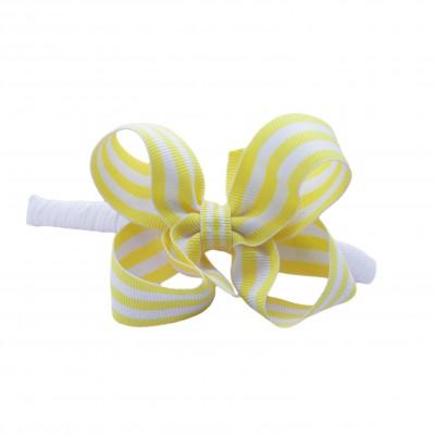YellowStripeBowHeadband
